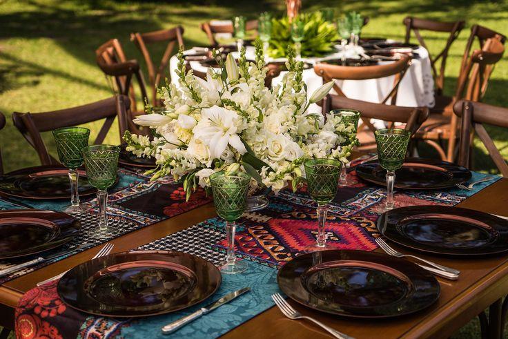 Detalhes da decoração - Casamento Rústico-chique