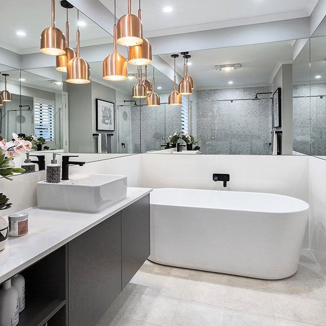 941 best images about bathrooms on pinterest white for Bathroom inspo