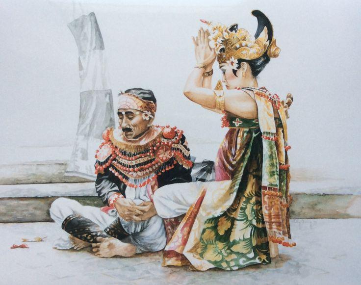 Balie  aquarel