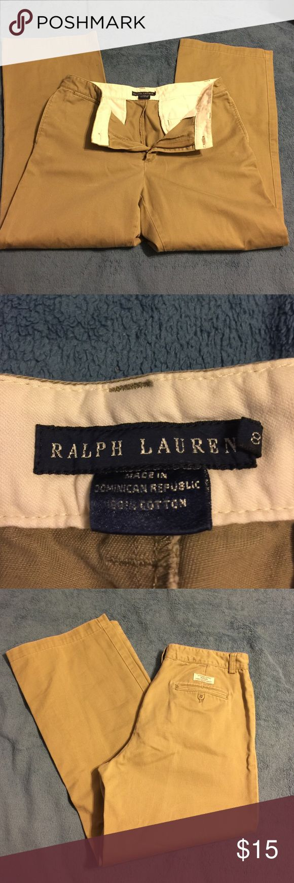 Ralph Lauren khaki pants Ralph Lauren polo khaki pants. Size 8. Classic chino polo design. Want to dress your son in style, well he needs these polo pants. Very classy and in style pants. Great price for kids polo khakis that are like new. Price is firm. 😀 Ralph Lauren Bottoms Casual