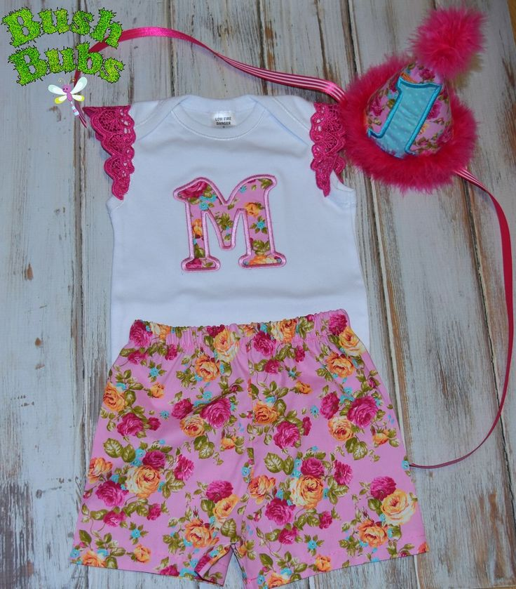 Personalised Floral Birthday outfit embroidered