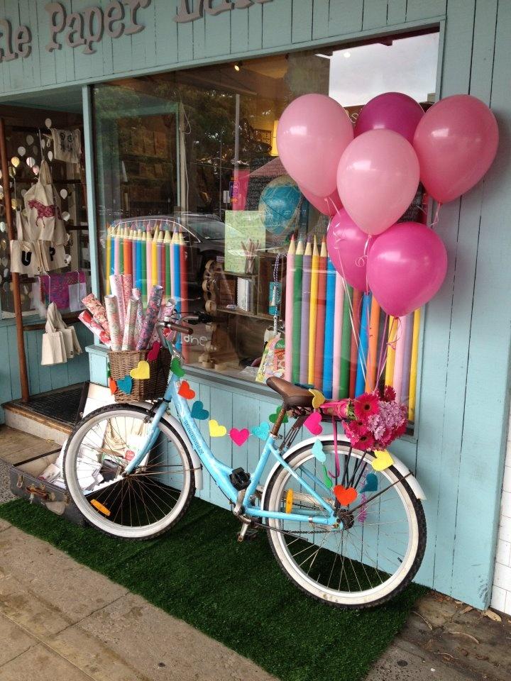 Anastasiac.blogspot.com    Little Paper Lane store in Sydney Australia - bicycle