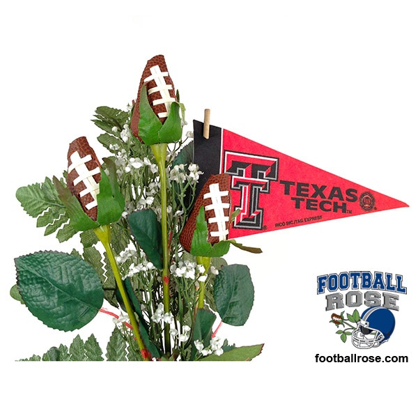 Score a touch down in the heart of a Texas Tech Red Raiders fan with Football Roses and officially licensed NCAA Big 12 accessories.  $64.95