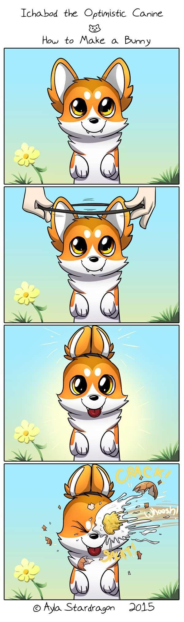 Ichabod the Optimistic Canine :: How to Make a Bunny | Tapastic Comics - image 1