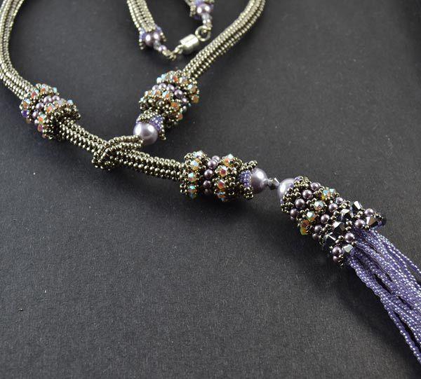 Siberian Tassel Necklace Beading Pattern - Liisa Turunen Designs