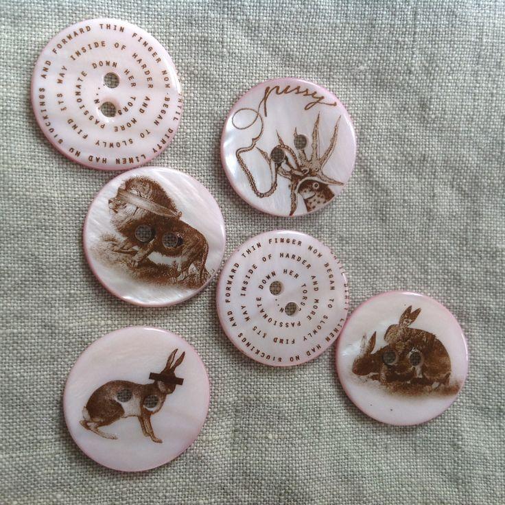 Sweet beasts on buttons! #pink #dirtylinen #
