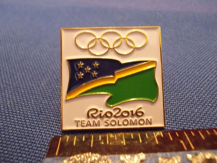 2016 Rio Olympic NOC Pin Solomon Dated