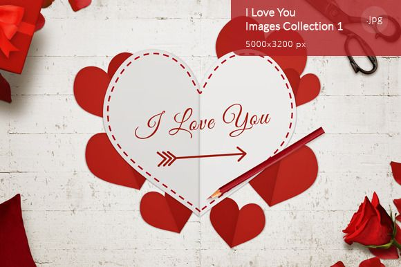 I Love You Images Collection 1 by RSplaneta on Creative Market