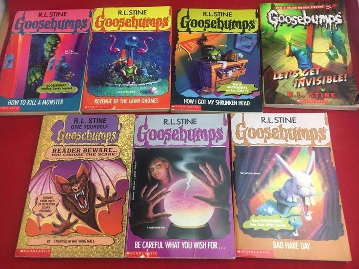 Goosebumps 7 Paperback books By R. L. Stine