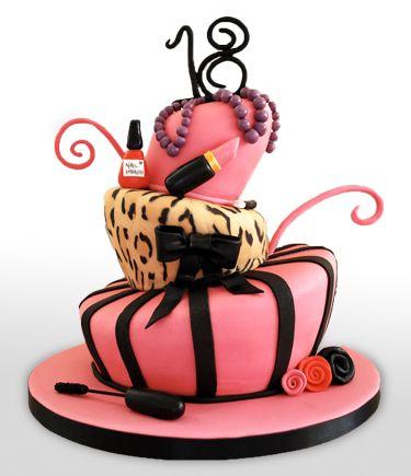 Wonky Make-up Cake