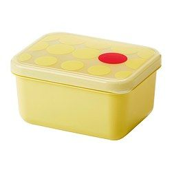IKEA - KULLAR, Lunch box, Fits in KULLAR cooler bag. Put the lunch boxes into the bag and it will be easy to store and transport your food.Leak-proof lid prevents spills and protects the contents from frost damage, making it ideal for both transporting food and storing leftovers.The lunch box is perfect for storing food in portions so you can bring it with you to school or work.Reduce food waste by storing your leftovers in a lunch box and reheating for another meal.It's easy to find what…
