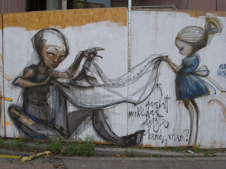 """Herakut da IL RAMO D'ORO """"Street Art"""" https://ilramodoro-katyasanna.blogspot.it/2013/11/street-art.html"""