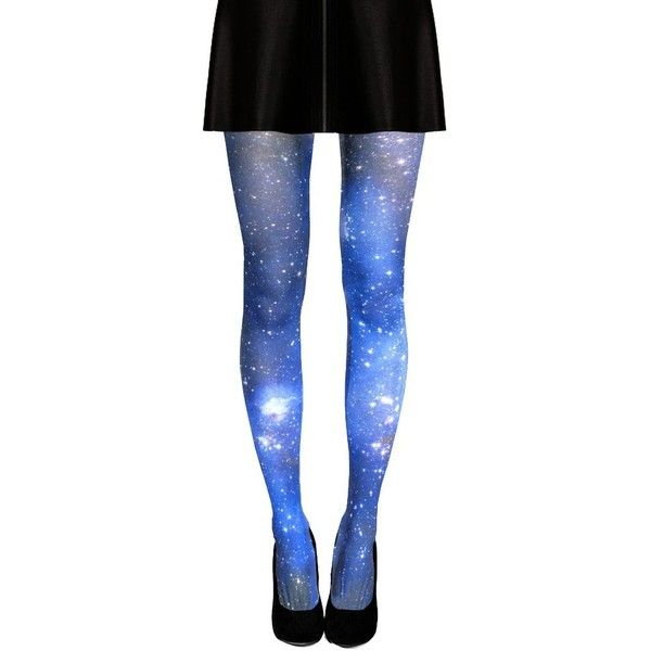 SMC Galaxy Tights ($24) ❤ liked on Polyvore featuring intimates, hosiery, tights, patterned pantyhose, patterned hosiery, patterned tights, cosmic tights and patterned stockings