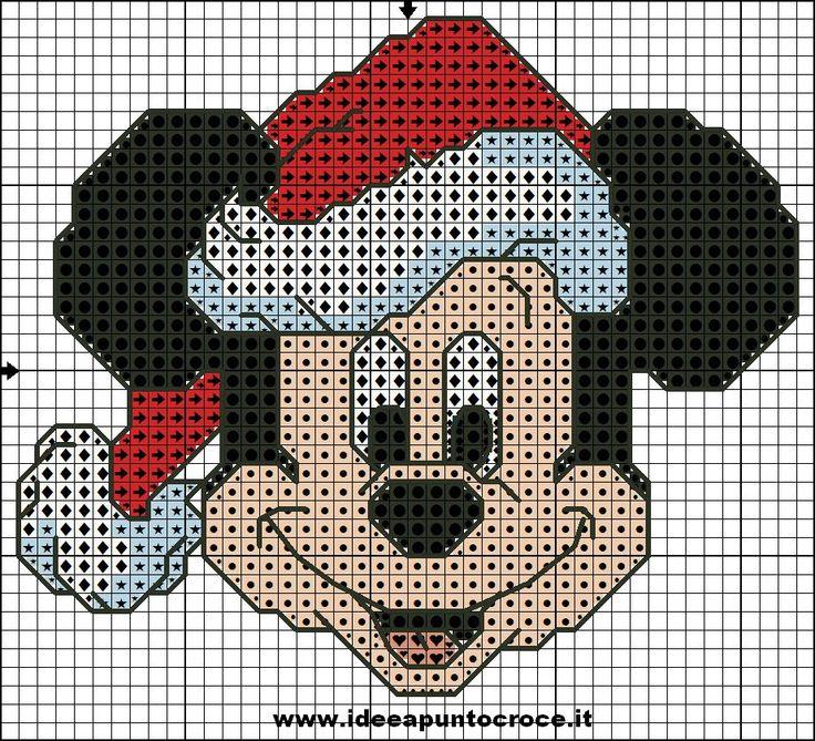 schema topolino natalizio