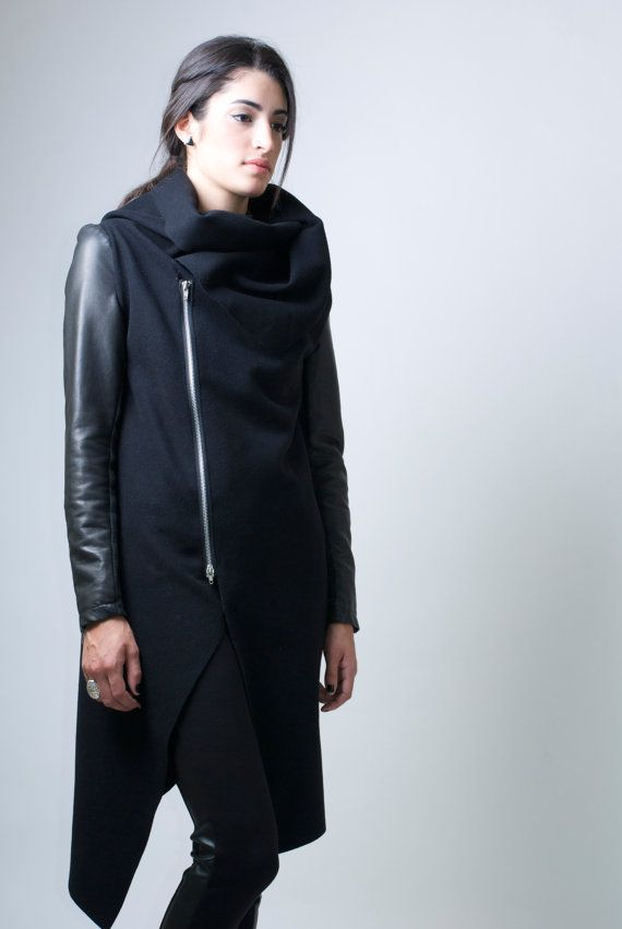 1000  images about asymmetrical coats on Pinterest | Winter