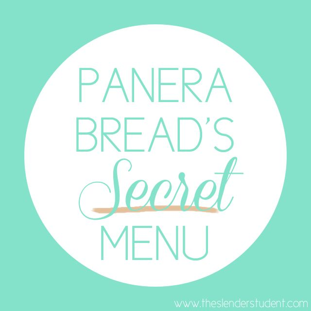 Heads up! Panera Bread has a secret healthy menu. Click to read up on all of the details! | The Slender Student
