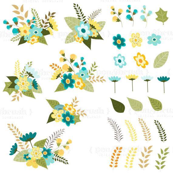 Clip art flower bouquet floral arrangement vector