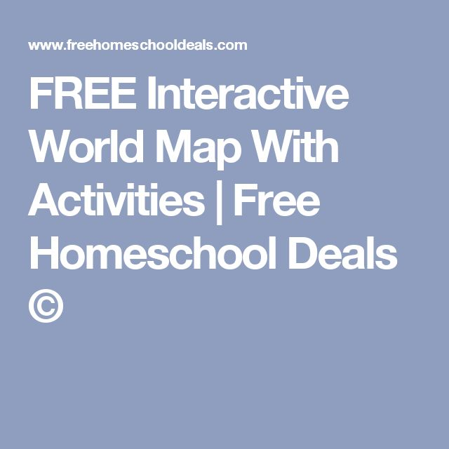 FREE Interactive World Map With Activities | Free Homeschool Deals ©