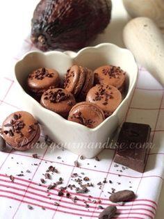 Macarons au chocolat de Pure Gourmandise! -> tout le site est à voir!