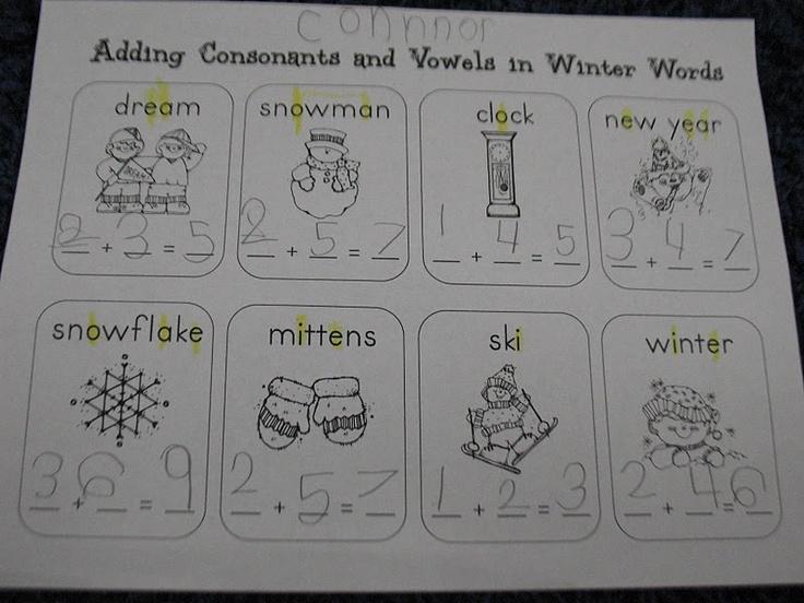 adding consonants and vowelsMorrow Kindergarten, Kindergarten 2013 2014