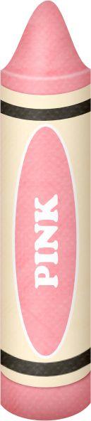 PINK CRAYON CLIP ART