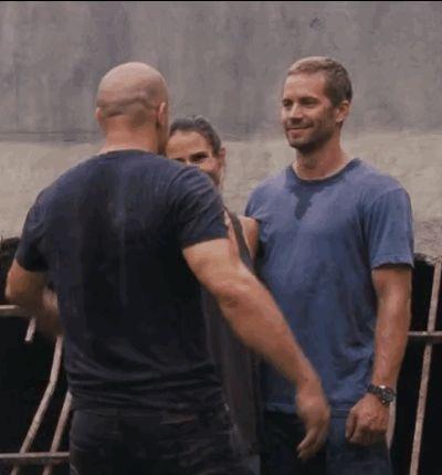 And this last hug, between Diesel, Brewster, and Walker.   The Fast & Furious Team Make An Emotional Video Tribute To Paul Walker