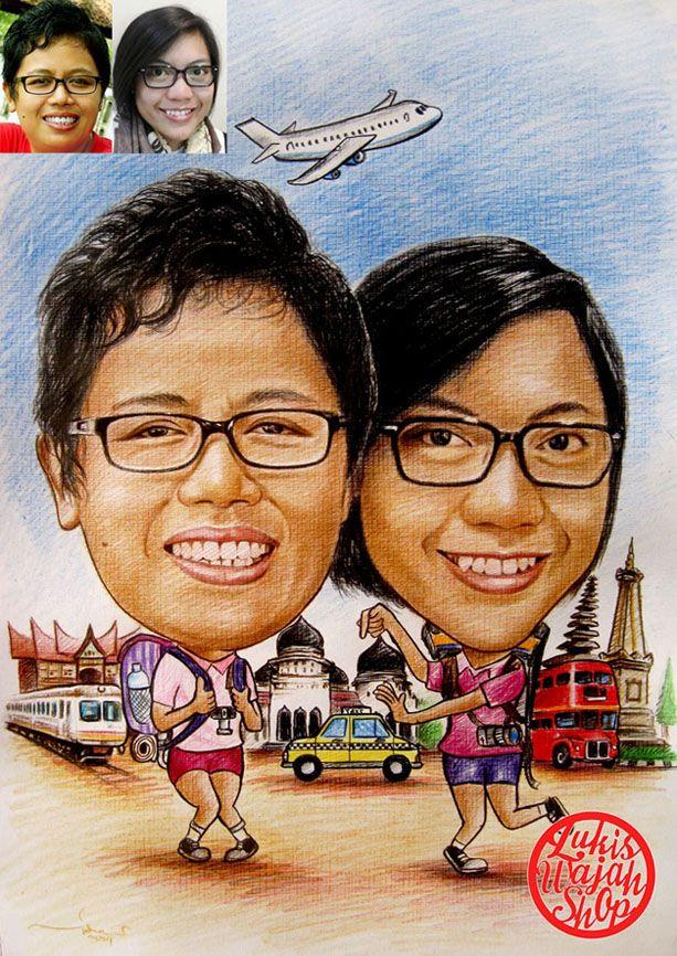 Jasa Karikatur Tema Traveling