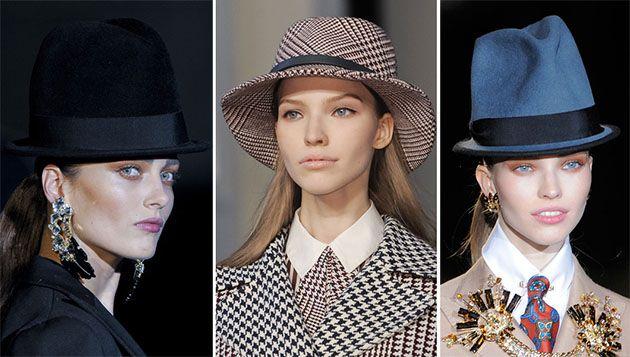 Fall/ Winter 2013-2014 Hat Trends - Masculine Retro Hats   #hats #womenhats
