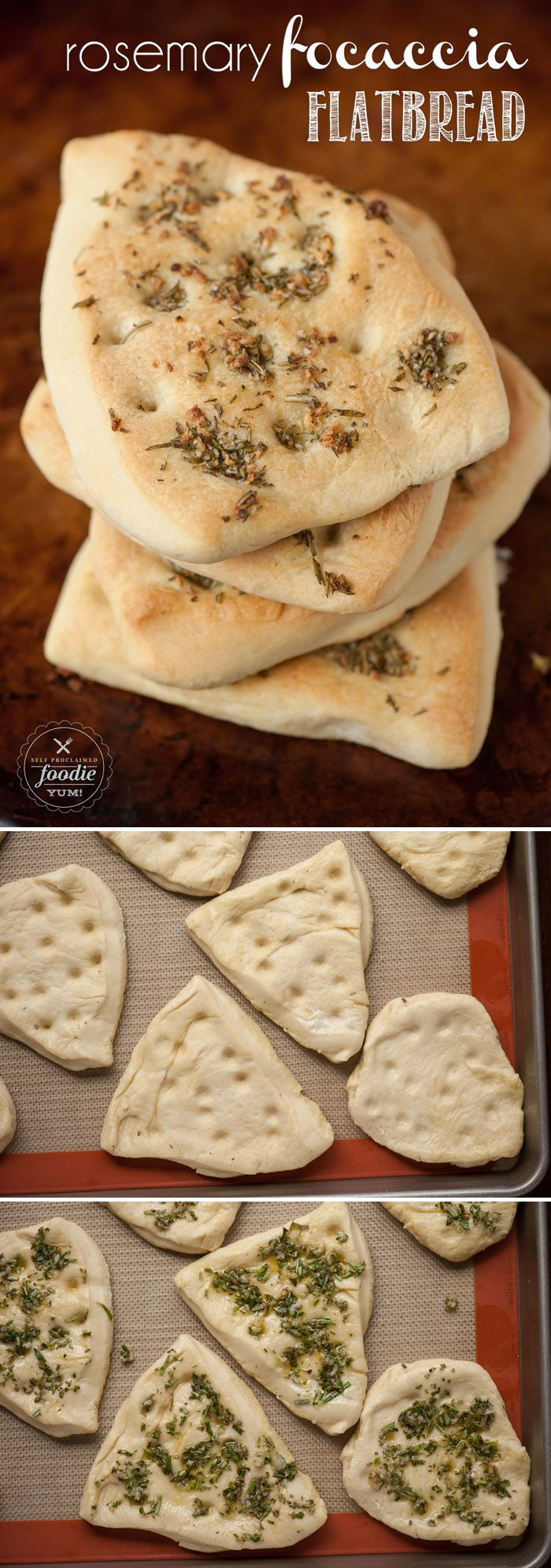 Homemade Rosemary Focaccia Flatbread is a rich and savory flat bread that has the same great olive oil taste as fluffy focaccia, but its more dense. (Homemade Butter Rosemary)