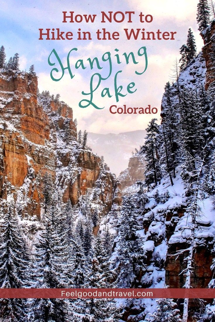Find out what it's like to hike to Hanging Lake, Colorado in the middle of winter. Learn from out mistakes, and plan a safe and enjoyable hike on Hanging Lake Trail. #HangingLake #HangingLakeTrail #HangingLakeColorado #ColoradoTravel #ColoradoAdventures