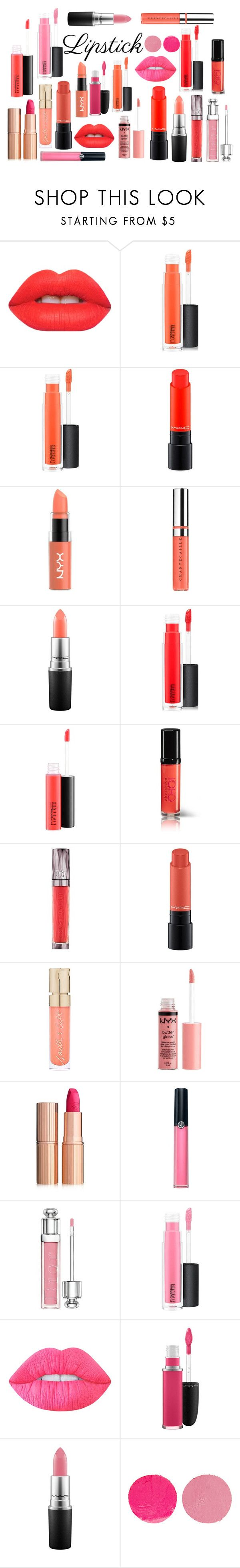 """""""#springlips"""" by talia-rose21 ❤ liked on Polyvore featuring beauty, Lime Crime, MAC Cosmetics, NYX, Chantecaille, Christina Choi Cosmetics, Urban Decay, Smith & Cult, Charlotte Russe and Charlotte Tilbury"""