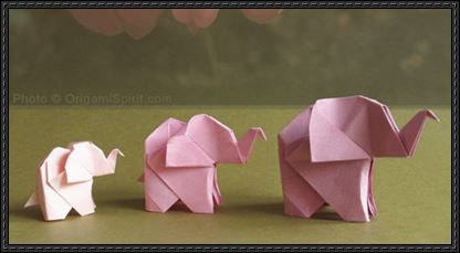How to Fold a Elephant Origami | PaperCraftSquare.com