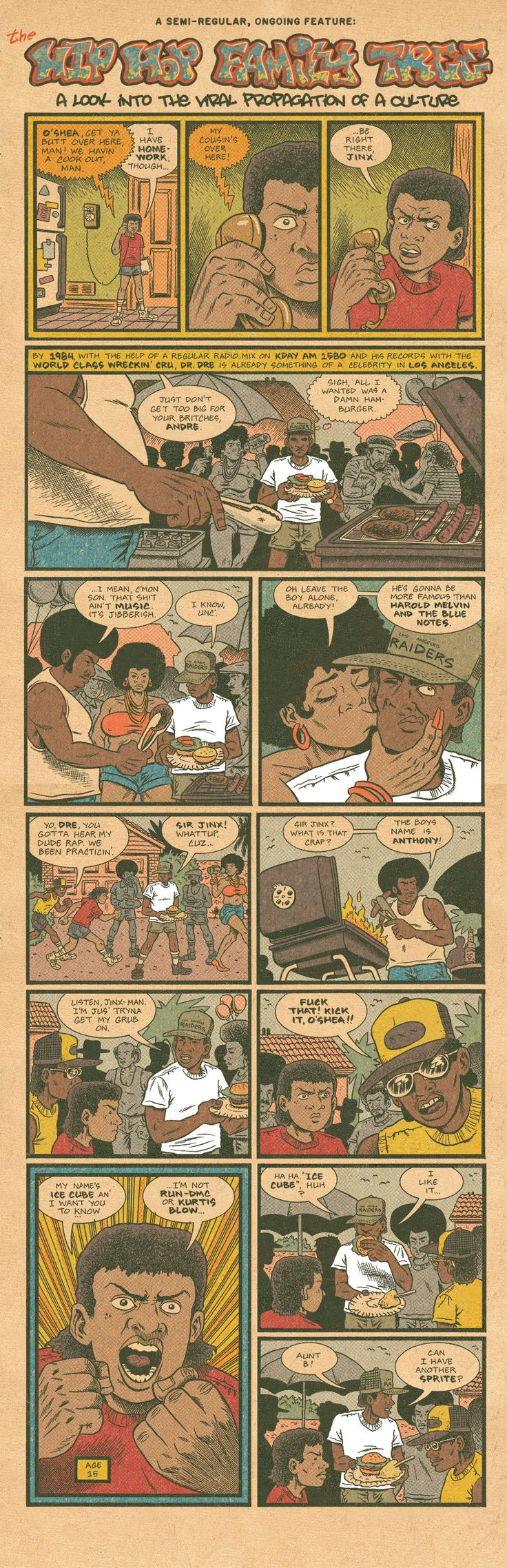 "Dr. Dre Meets Ice Cube  ""Just don't get too big for your britches, Andre""  By Ed Piskor"