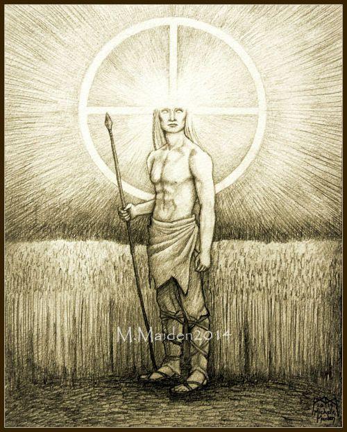 Lugh PRINT Celtic god Lugh art solar deity by ElementalOtherworld