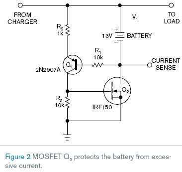 МОП-транзистор предотвращает повреждение батареи