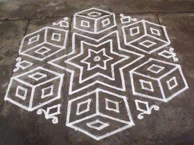 21-11 Pulli Kolam - interlaced dots kolam, Easy kolam, Star Kolam, Quick Kolam, Simple Kolam, Fast kolam, Box Kolam, Petti Kolam