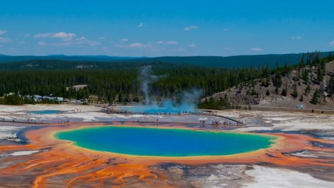 10 Incredible Hot Springs at Yellowstone - weather.com Super Volcano under Yellowstone