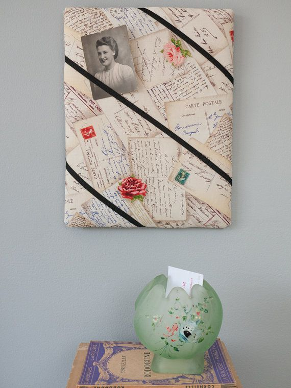French postcards and roses vintage-style handmade by freshdarling