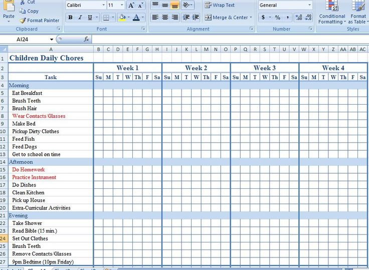 25 best ideas about Chore chart template – General Color Chart Template