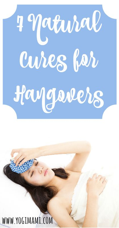7 Natural cures for hangovers.