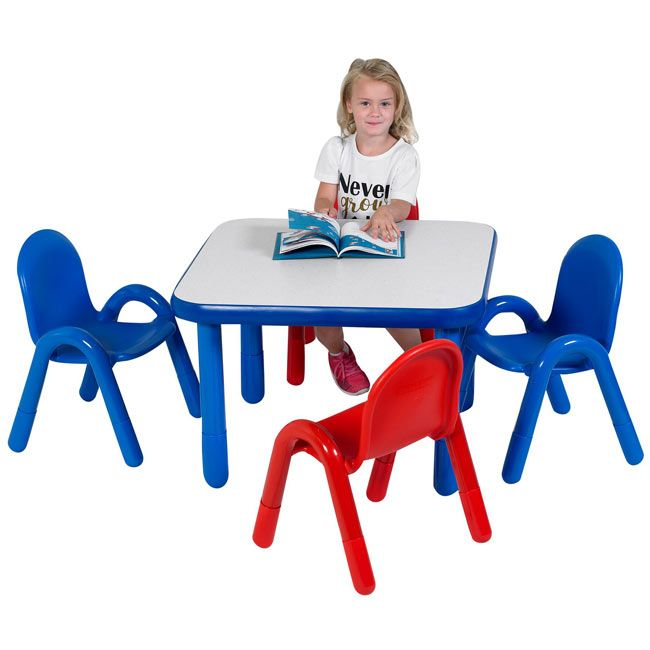 Baseline Preschool Table Chair Set 30 Square Preschool Tables Toddler Table Chair Set Preschool table and chairs set
