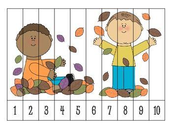 9 AUTUMN NUMBER ORDER PUZZLES {FREEBIE} - TeachersPayTeachers.com