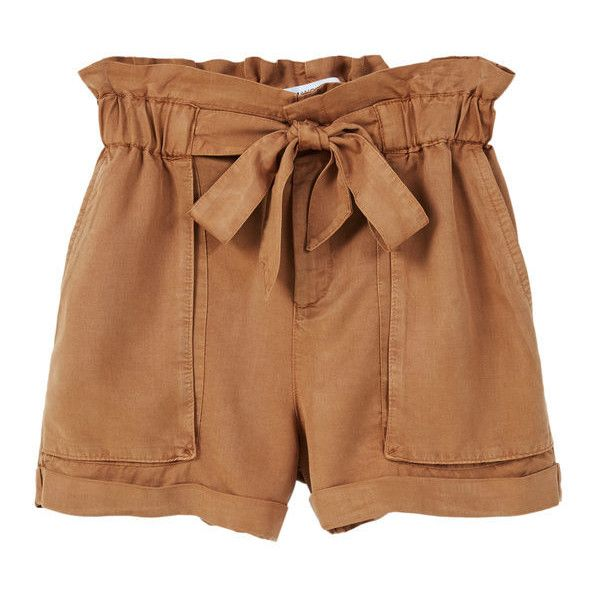 Soft Fabric Shorts found on Polyvore featuring shorts, bottoms, pants, stretch waist shorts, mango shorts, elastic waistband shorts and elastic waist shorts