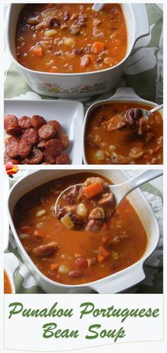 Delicious recipe for Punahou Portuguese Bean Soup, perfect for lunch or dinner. Get more island favorites here.