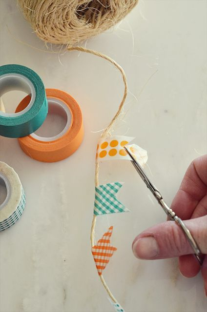Mini guirnalda con Washi   tape