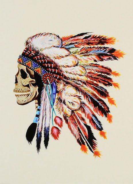 skull x feather headdress