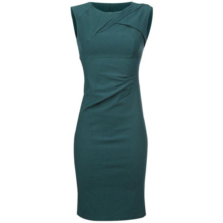 """Jurk """"Claudette"""" van Voodoo Vixen:  - met rits in de achterkant - met loopsplit in de achterkant - getailleerd - mouwloos - lengte: ca. 100 cm  Zoek je een fraaie, elegante jurk voor speciale gelegenheden? Kijk dan eens naar de mouwloze jurk """"Claudette"""" van Voodoo Vixen! Het prachtige getailleerde kledingstuk met een lengte van ongeveer 100 cm heeft een rits en een loopsplit in de achterkant, en is gemakkelijk aan en uit te trekken."""