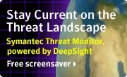 More free screensavers contain viruses than not. But never fear, Symantec will provide you with their own free screensaver.
