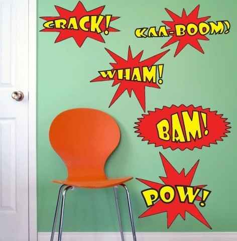 1000 images about beckham room on pinterest heroes superhero and wallpaper borders - Comic themed bedroom ...