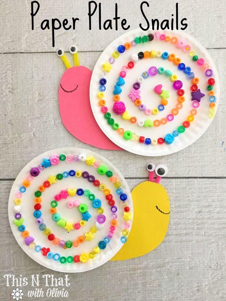 Paper Plate Snails Craft #Snail #Craft #DIY #Kids via @odouglass